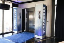 Event: Branded Blow Out / This European company requested the ultimate branded corporate event and that's exactly what we gave them! Ventanas was decked out in their distinct blue and white colors and logo.