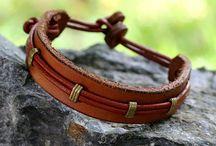 pulseiras couro