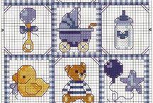 Borduur patronen Baby