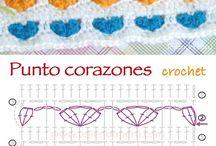 pontos variados de crochet