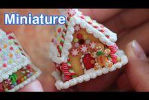 Micro Houses / Miniature houses, 144scale furnishings and Gingerbread houses.  Glitter houses.  Putz houses.