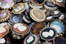 Vintage juveler och krimskrams