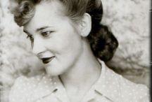 woman retro photo