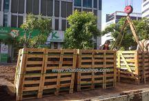 หินธรรมชาติ Cobble stone ส่งหน้างาน ธ.กสิกรไทย เมืองทองธานี / หินธรรมชาติ cobble stone ปูถนน ขนาด 10x10x5 cm. หน้างาน ธนาคารกสิกรไทย อาคารแจ้งวัฒนะ เมืองทองธานี ถนนแจ้งวัฒนะ สำหรับงาน renovate พื้นถนน ลาดจอดรถ หน้าอาคารสำนักงานธนาคาร