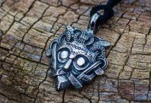 Loki's Mask Viking Pendant