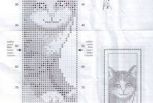 bookmarks cross stitch / boekenleggers