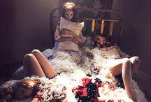 beauty shoot on pillows