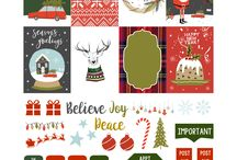 bileciki do prezentów christmas