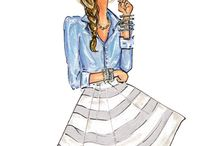 Fashion Illustration / I find that sometimes fashion looks better on paper.