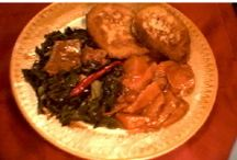 """Soul Food! / The term Soul Food originated from cuisine developed by African slaves mainly from South-A dark period in history of US resulted in a cuisine fashioned from meager ingredients available to slave & sharecropper black families.  From meager ingredients evolved a simple yet hearty & delicious cuisine. Every ethnic group has what it calls """"soul food""""-soothing, comfort food that brings back warm memories of family dinners.  But, today, the term """"soul food"""" simply means African-American cuisine. / by Grateful Kim"""