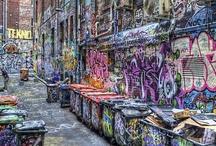 Rua grafitada