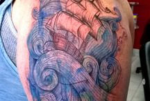 my new tattoo / Based on the drawing 'long journey' from Enkel Dika, artist Melissa Provost from studio Burnink, montreal!!!
