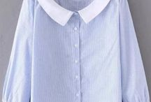 W collar shirt