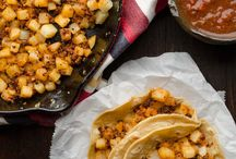 potatoes and chorizo tacos