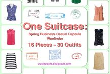 One Suitcase: Spring Business Casual Capsule Wardrobe