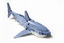 lego sharks an fish