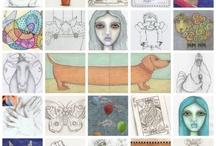 Inside My Sketchbook, Scrap Paper & Index Cards / http://kristindudish.com/