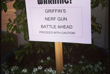 Luca's Nerf Gun Party