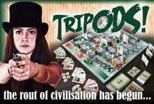 Tripods! / Tripods! the board game's pin board