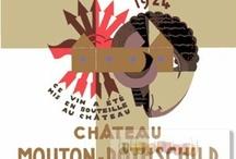 Mouton, Painting for the labels / Alle etiketten worden ieder jaar ontworpen door een bekende kunstenaar  o.a. Salvador Dalí in 1958, Pablo Picasso in 1973, Andy Warhol in 1975, Karel Appel in 1994 en vele anderen. Vanaf  1934 werd op alle etiketten van de Mouthon Rothschild wijn het exacte aantal geproduceerde flessen vermeld, en vanaf 1945 liet de baron Philippe de bovenzijde van het etiket van de Mouton rothschild wijn elk jaar ontwerpen door een beroemde kunstenaar. Zij ontvangen voor het ontwerp 24 kisten