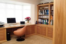 Our Home Study Furniture / Fitted furniture for working spaces at home that can fit into the smallest room as well as double up as a bedroom with fold away bed at night...from www.janecheelfurniture.com