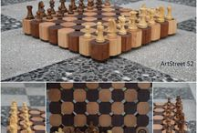'Indian King' Masterpiece 52.10.16 / Unique handmade chessboard made from maple and mahogany wooden pieces! For any information or question send us a message at https://www.facebook.com/artstreet52/ We will be glad to answer you!!!