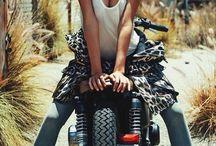 Editorial Girl Motorcycle