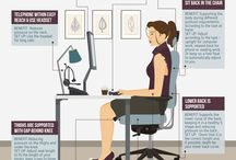 Posture Correcting Chair / Ergonomically designed office chairs to improve your posture and relieve back pain and tension build up.   Combine with physiotherapy and exercise and you will reduce your back pain faster