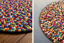 alfombra bolitas fieltro