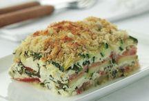 Ovenschotel met geitenkaas spinazie en courgette