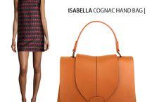 Isabella Cognac Hand bag - Marlafiji