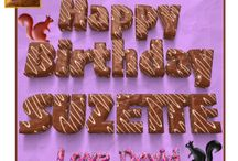 Chocolate Cake Fonts - Happy Birthday Card