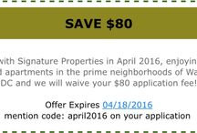 April 2016 Promotion / Discount for any of our properties for this month!