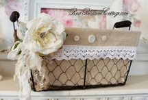Pretty Baskets & Boxes / Who says organization can't be pretty, too!