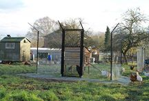 ProtectaPet Chicken Enclosures / Fox proof chicken coups and enclosures custom designed with steel framed enclosure posts, animal proof gates, welded mesh and patented cruci-lock push fit technology in the ground spikes.