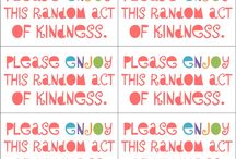 Printables to use for Kindness