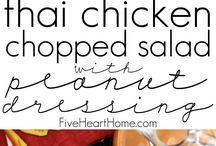 Salads / Dinner salads, side salads, salad dressings.