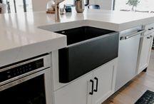 KITCHENS / Modern, minimalist, farmhouse kitchen designs and decor ideas