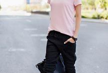 zapatos rosa y amarillos