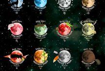 měsíc a krystaly
