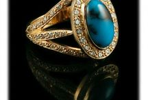 Turquoise and Diamonds in Gold