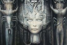 Giger / Artwork from HR Giger, the creator of the alien(s) seen in Ridley Scott's infamous films. / by Digital Accomplice