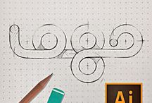 Grafik Logo Tasarım / Yazı karakterleri logolar farklı tasarım yazı şekilleri
