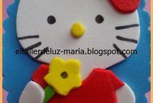 Diademas / Diademas en goma eva, crochet, cola de ratón, ...