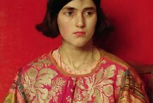 Art of Thomas Cooper Gotch (1854 - 1931) English / Thomas Cooper Gotch (1854-1931) Kettering, Northamptonshire. Painter of portraits, landscape and allegorical and realistic genre. He studied at Heatherley's Art School (1876), the Ecole des Beaux Arts in Antwerp (1877), Slade School (1878), and with Jean Paul Laurens in Paris (1880). He exhibited at the Royal Academy in 1880-1931. and is considered one of the founding members of the Newlyn School of artists along with Stanhope Forbes and Walter Langley.