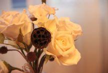 Handmade  / Cold porcelain flowers.