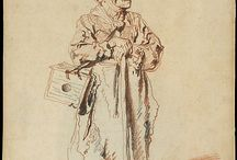 Watteau , Antoine - Desenho / Drawing