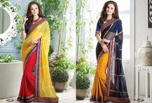 Navin Fashions / Superb collection of designer Sarees with Matching and Contrasting Bottom and Blouse. Designed specially for party and ceremonial occasions.