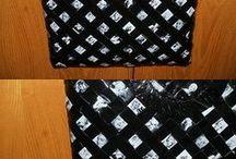 borsa bianca nero