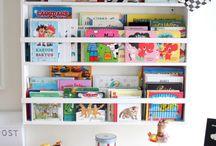 Vägghylla för böcker
